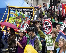 JUL 10 2014 London anti wage freeze demo