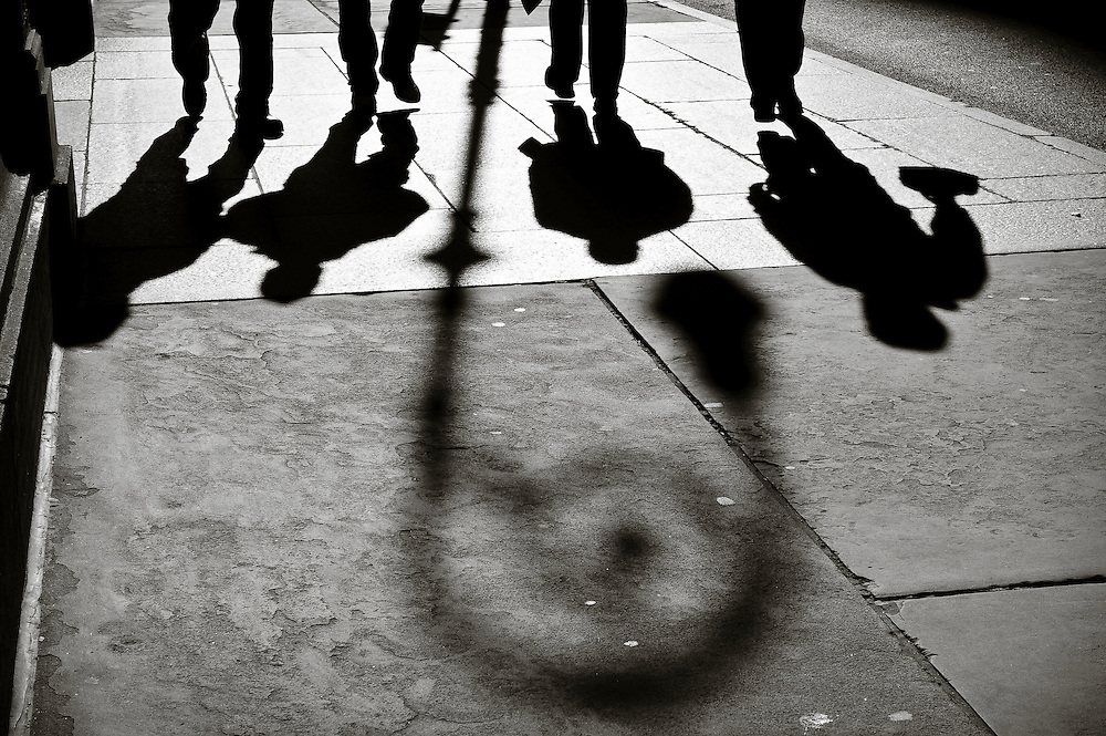 Shadows on the streets of New York