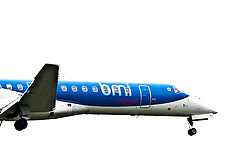 A bmi plane on approach to Edinburgh airport..©Pic : Michael Schofield.