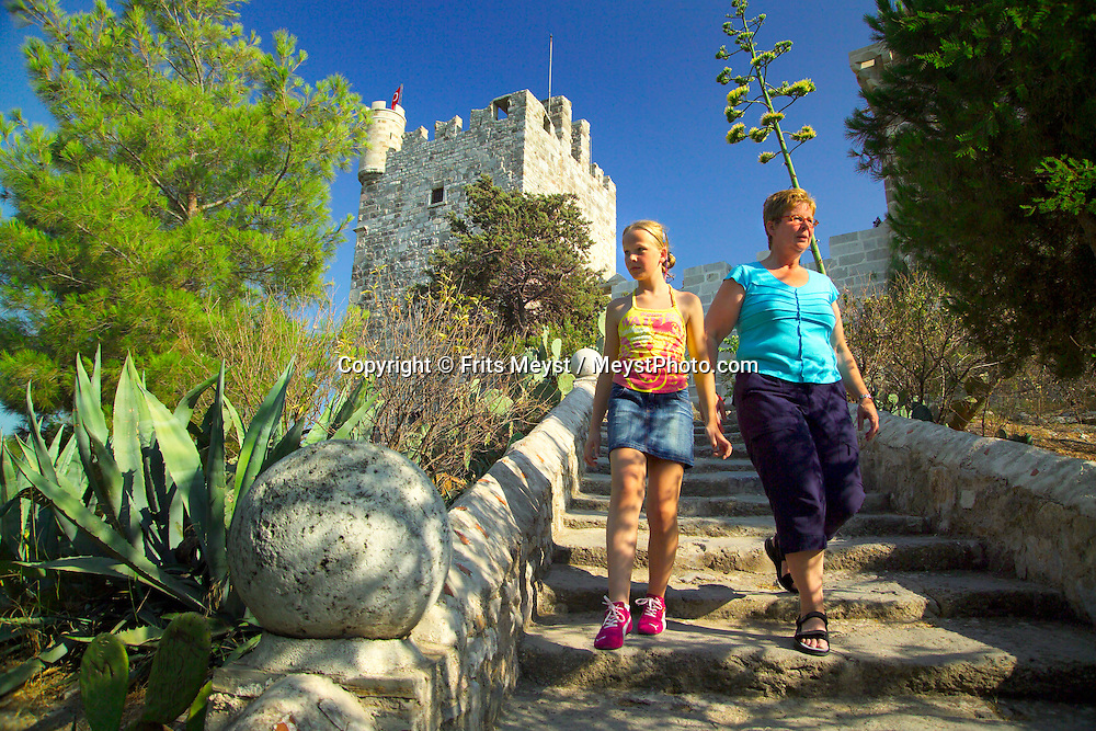 Bodrum, Turkey, July 2004.  The old castle and city walls of bodrum. Photo by Frits Meyst/Adventure4ever.com