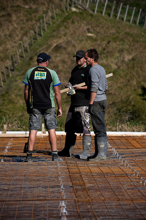 Building site, Napier, New Zealand, Monday, June 11, 2011.  Credit: SNPA / Bethelle McFedries