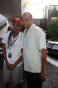 Dauowd and Ralph Scott at the Lincoln Presents ' Off the Red Carpet ' at The 2008 American Black Film Festival at The Sofitel Hotel on August 9, 2008..' Off the Red Carpet ' celebrates the film careers of Hollywood insiders and soon to be released films by Black Filmmakers.