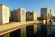 France, Languedoc Roussillon, Hérault, Montpellier, Bassin du Port Juvénal et l'Hotel de Région