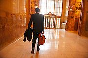 Daniel Vasella (59), in der Lobby des Helmsley Gebaeudes auf der Park Avenue in Manhattan, New York, am 13. Maerz 2013. Ein Buero des Pharma Riesen Novartis belegt dort die ganze Etage des 21. Stocks. .Der ehemalige Novartis Praesident verlässt die Schweiz...Daniel Vasella (59), in the lobby of the Helmsley Building on 230 Park Avenue in Manhattan, New York, March 13. 2013. The pharmaceutical giant Novartis occupies  the entire 21st floor (22,050 square feet) of the 34-story building..The former president of Novartis left Switzerland...© Stefan Falke.www.stefanfalke.com..Daniel Vasella (59), ehemaliger President des Pharmariesen Novartis, in der Lobby des Helmsley Gebaeudes auf der Park Avenue in Manhattan, New York, am 13. Maerz 2013, einen Tag nachdem er die Schweiz verlassen hat. Ein Buero des Pharma Riesen Novartis belegt dort die ganze Etage des 21. Stocks. Vasella verzichtete nach scharfer oeffentlicher Kritik in der Schweiz auf 72 Millionen Franken Abfindung. ..Engl.: Daniel Vasella (59), former president of pharma giant Novartis, in the lobby of the Helmsley Building on 230 Park Avenue in Manhattan, New York, March 13. 2013, one  day after he left Switzerland. The pharmaceutical giant Novartis occupies  the entire 21st floor (22,050 square feet) of the 34-story building..Vasella and Novartis canceled a 72 million compensation package for him in the wake of a huge public criticism...© Stefan Falke   www.stefanfalke.com