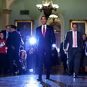 Pres. Obama speaks to reporters following meetings on Capitol Hill Tuesday, January 27, 2009.  ..Photo by Khue Bui