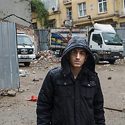 17/10/2013 - Istanbul - Tarlabasi area - Akure, 15 years old told us that he will move to another area of Istanbul. He don't know which one right now. He would like to find work as he no loner go to school.