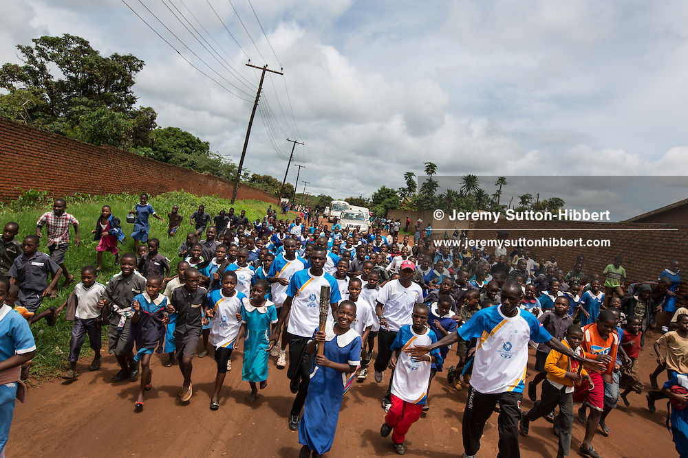 The Queen's Baton was carried in relay by athletes through the streets of Lilongwe, Malawi, on Saturday 25 January 2014. Malawi is nation 31 of 70 Commonwealth nations and territories to be visited by the Queen's Baton.