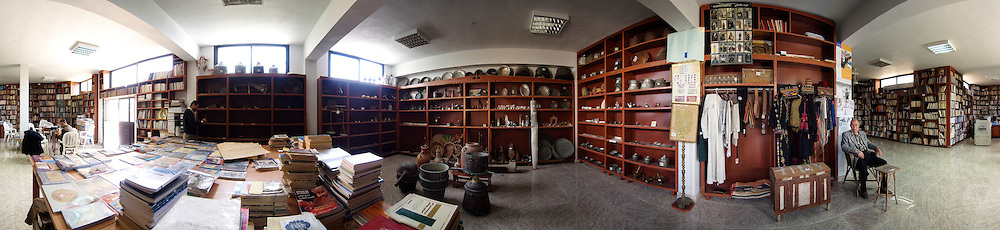 A Palestinian library/museum in a refugee camp in Tyre, Lebanon