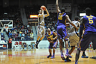 "Mississippi's Marshall Henderson (22) shoots against LSU at the C.M. ""Tad"" Smith Coliseum in Oxford, Miss. on Wednesday, January 15, 2013. (AP Photo/Oxford Eagle, Bruce Newman)"