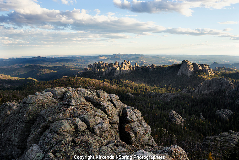 SD00056-00...SOUTH DAKOTA - View out to Cathedral Spires from Harney Peak in Custer State Park.