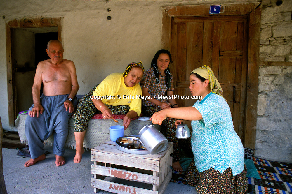 Alanya, Antalya, Turkey, 2004. Turkish people are always welcoming guests with Tea.  Many holidaymakers find their way to the Turkish riviera to enjoy the sun and Turkish hospitality. Photo by Frits Meyst/Adventure4ever.com
