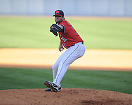 Ole Miss' Tanner Bailey pitches vs. Alabama at Oxford-University Stadium in Oxford, Miss. on Saturday, April 13, 2013. Ole Miss won 5-2.
