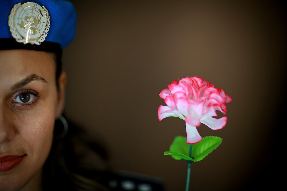 Friday 29 May, is International Day of United Nations Peacekeepers. The theme for the Day is Women in Peacekeeping. photographed here UN Police officer Sandra Doinita Visan from Romania..Photo by @ UNMIT/Martine Perret. 28 May 2009