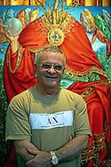 Cosme Proenza at his exposition in Holguin, Cuba.