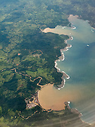 Panama-2014<br /> Caribbean coast south of Colon, flying in.