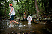 River crossing turnaround at the Catoctin 50k held near Frederick, MD.
