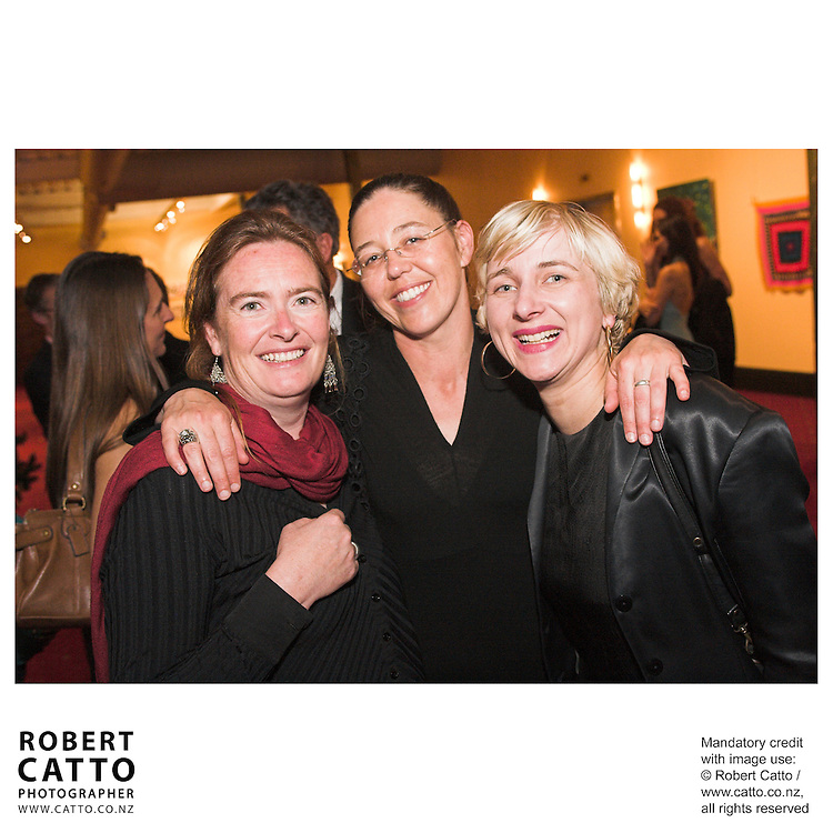 Anne O'Brien;Megan Buchanan;Andrea Tandy at the Arts Foundation of New Zealand New Generation Awards at the St James Theatre, Wellington, New Zealand.<br />