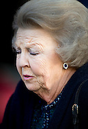 12-1-2016 AMSTERDAM Koning Willem-Alexander en Koningin Maxima houden dinsdag 12 januari 2016 de traditionele Nieuwjaarsontvangst voor Nederlandse genodigden in het paleis op de dam . prinses beatrix  prinses Margriet . COPYRIGHT ROBIN UTRECHT<br /> AMSTERDAM 12-1-2016 King Willem-Alexander and Queen Maxima arrive Tuesday, January 12th, 2016 for the traditional New Year Reception for Dutch guests in the palace on the dam. princess beatrix Princess Margriet . COPYRIGHT ROBIN UTRECHT