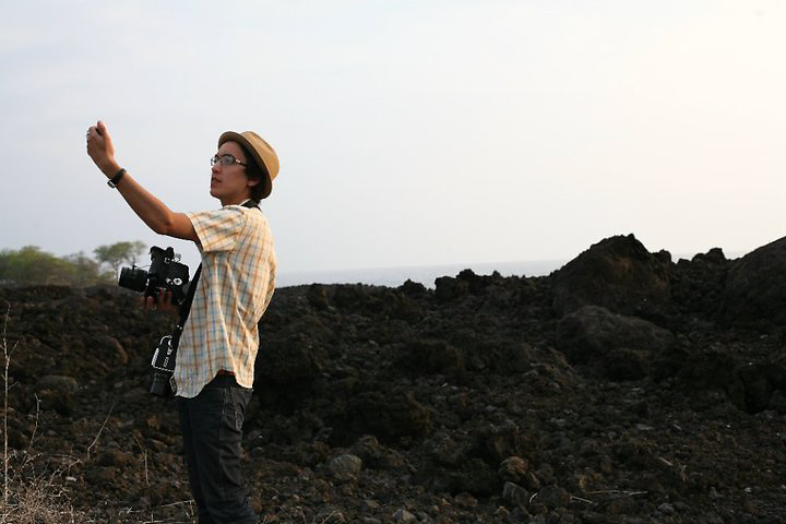 HAWAII - 2010: Brian Adams photographing in Kona, Hawaii. <br />