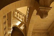France, Languedoc Roussillon, Gard, Uzège, Uzès, hôtel particulier Dampmartin, escalier à clef pendante