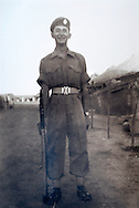 Collect photo of Suez Veteran and ex Paratrooper Don Axon, taken in Cyprus in 1956..Photo©Steve Forrest /Workers Photos