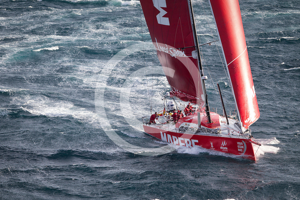 November 19, 2014. Start of Leg 2 from Cape Town to Abu Dhabi: MAPFRE.