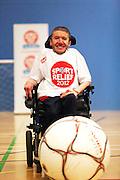 Wheelchair football stunt, Bletchley Leisure Centre, Milton Keynes