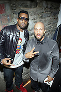 l to r: Kanye West and Common at the ' Locals Only ' Underground Event Series sponsored by NBCNY.com featuring Common held at The Angel Orensanz Foundation for Art on the Lower East side on Mahanttan on December 11, 2008..exclusive