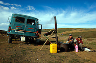 Ninja Miners,<br /> Project about gold mining in Mongolia.<br /> Mongolians with different professions and life levels go to  mining sites in rural areas to look for gold during the summer, earning an average of 6 US Dolars per day.<br /> Ulan Bulac, August 2009, Western Mongolia