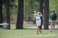 Oxford High golfer Ward Toler tees off on the 8th hole during the MHSAA District 2-5A golf tournament at the Ole Miss Golf Course in Oxford, Miss. on Monday, April 15, 2013.