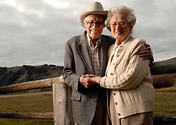 "NEWS&GUIDE PHOTO / PRICE CHAMBERS.Cliff and Martha Hansen want to preserve one of Jackson Hole's most scenic corridors, Spring Gulch. The National Museum of Wildlife Art bestowed their highest honor to Senator Hansen on Monday, in recognition of his efforts to protect the open spaces that make Jackson what it is. The couple have been married for 72 years and live on their ranch at 1000 Spring Gulch Road. Hansen is a former U.S. senator and governor of Wyoming. When asked why they have lived in the area for so long he replies, ""It's home."""