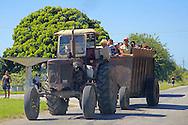 Tractor in Yara, Granma, Cuba.