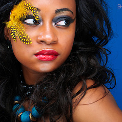 Beauty image with Feathers, beautiful colors and Accesories<br /> <br /> Model: Bunmi Williams<br /> MUA: Pinky