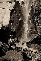 Waterfall in Sixty Lakes Basin, Sierra Nevada of California