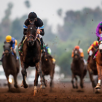 15-0207- Shared Belief wins the San Antonio Stakes