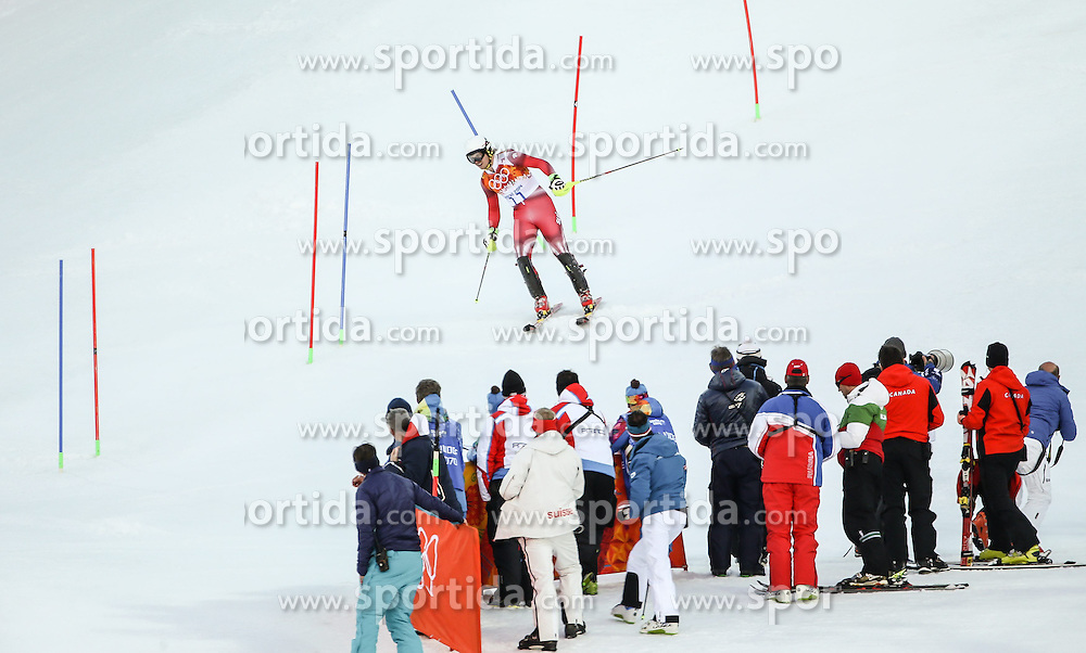 14.02.2014, Rosa Khutor Alpine Center, Krasnaya Polyana, RUS, Sochi, 2014, im Bild Mauro Caviezel (SUI) // Mauro Caviezel of Switzerland during the Slalom of the mens Super Combined of the Olympic Winter Games 'Sochi 2014' at the Rosa Khutor Alpine Center, Krasnaya Polyana, Russia on 2014/02/14. EXPA Pictures &copy; 2014, PhotoCredit: EXPA/ Minkoff<br /> <br /> *****ATTENTION - OUT of GER*****