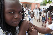 11 October 2010. Luanda, ANGOLA. In a global effort to eradicate the incendents of polio, Angola has launched a major re-vaccination campaign that has sparked re-vitalisation in the primary healthcare sector too.