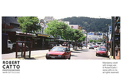 A panoramic view of Wellington's Courtenay Place. at Courtenay Place, Wellington, New Zealand.
