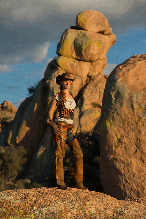 USA,Arizona,Dragoon Mountains, cowgirl fully released,