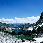 Landscape views of high-altitude landscape near the Minaret Range, Inyo National Forest, Sierra Nevada Mountains, California, USA