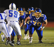 Oxford High's Boatman Jacobs (70) vs. Senatobia in high school football in Oxford, Miss. on Friday, September 9, 2011. Oxford won 40-20.