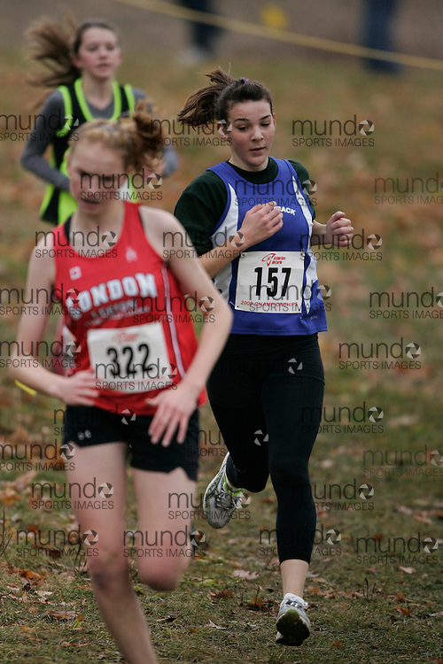 King City, Ontario ---09-11-15--- Alana Ciullo of the Centro Scuola Track and Field competes at the Athletics Ontario Cross Country Championships in King City, Ontario, November 16, 2009..GEOFF ROBINS Mundo Sport Images