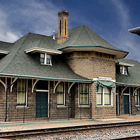 Old Train Depot in Brigham City, Utah<br /> In 1869, the driving of the &ldquo;Golden Spike&rdquo; celebrated the completion of the Transcontinental Railway at Promontory Summit. The closest town to this historic site is Brigham City, Utah. When the Union Pacific train depot was built in 1906, women passengers were segregated on the north side of the ticket office. Ladies were expected to be refined and were not allowed to spit, swear or smoke. On the south side, men were allowed to engage in this socially unacceptable behavior. The Golden Spike Association is currently renovating this historic station.
