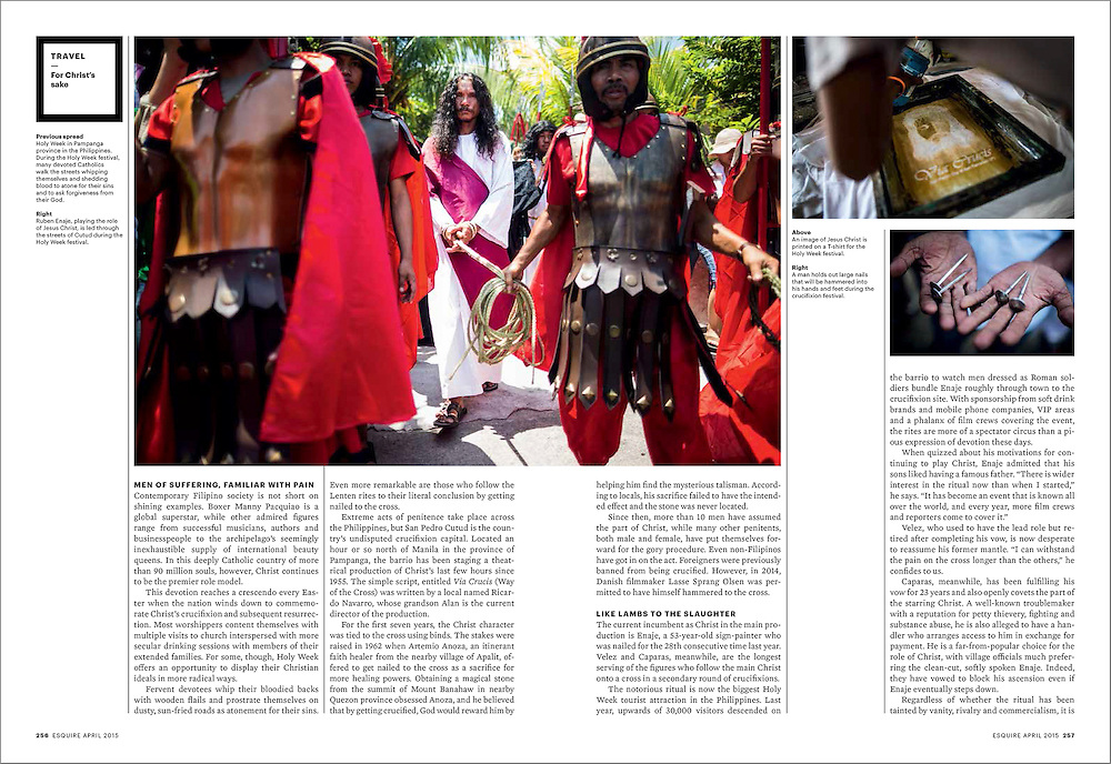 A feature documentary story on Holy Week in the Philippines for Esquire SG.
