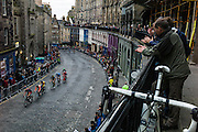 Edinburgh, UK, 29th May 2014. The mens race rounded off an evenings racing through Edinburgh's Grassmarket during round six of the Pearl Izumi Tour Series. The aim for teams is to place three of their riders as high up the finishing order as possible and record the lowest cumulative points. The tour consists of ten venues across the UK each year.