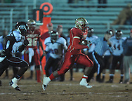 Lafayette High's Demarkous Dennis (5) runs 38 yards for a touchdown vs. Greenwood High in MHSAA playoff action in Oxford, Miss. on Friday, November 11, 2011. Lafayette High won 53-8.