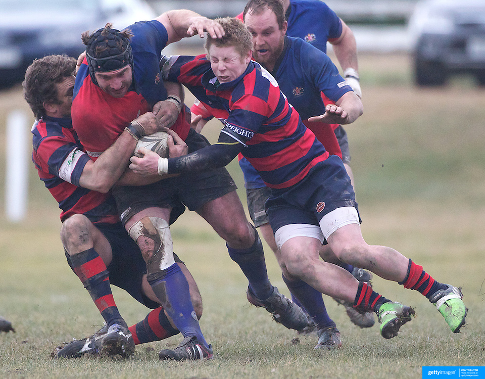 Andrew Hore in action during the Otago Rugby Final between Maniototo and Arrowtown at Ranfurly, South Island, New Zealand, 9th June 2011