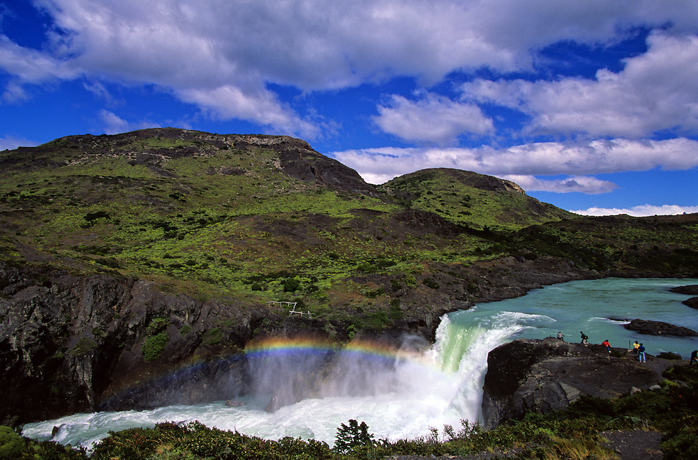 Salto Grande waterfall.Torres del Paine National Park. Patagonia. Chile.