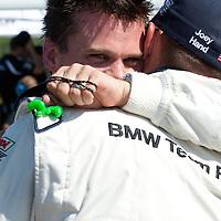Dirk Muller celebrates class pole