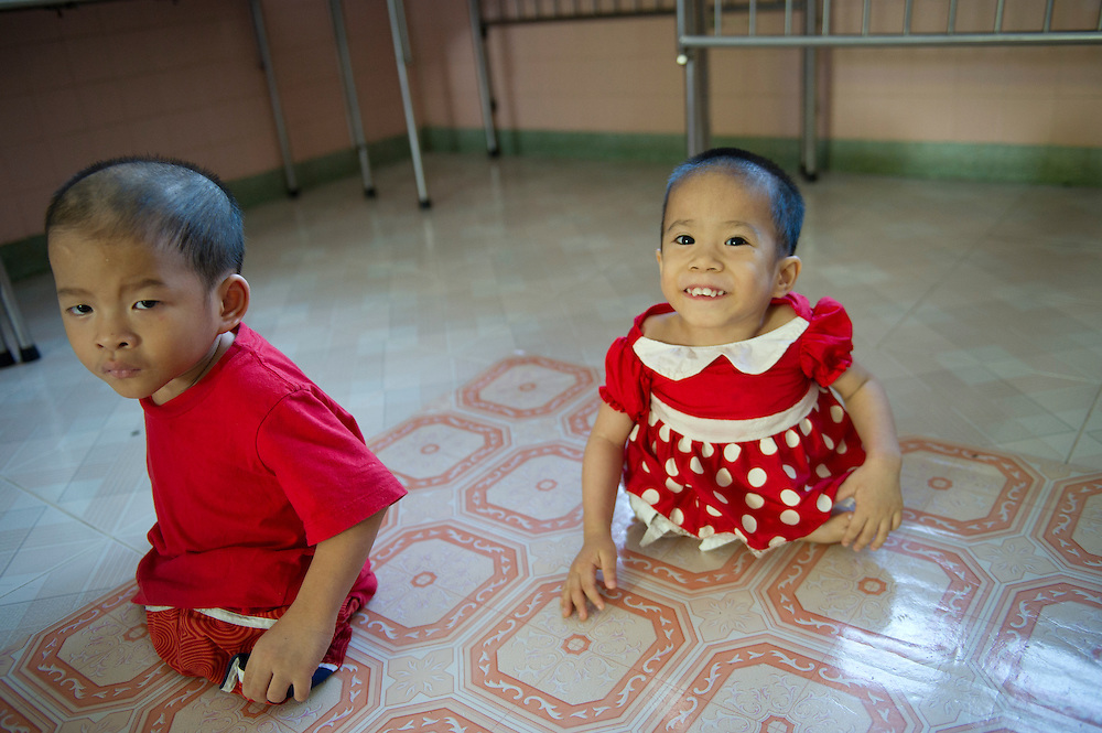 Nguyen Hoai Thuong.and An Chang at the Peace Village within Tu Du (Freedom) Obstetrics and Gynaecology Hospital in Ho Chi Minh City, Vietnam